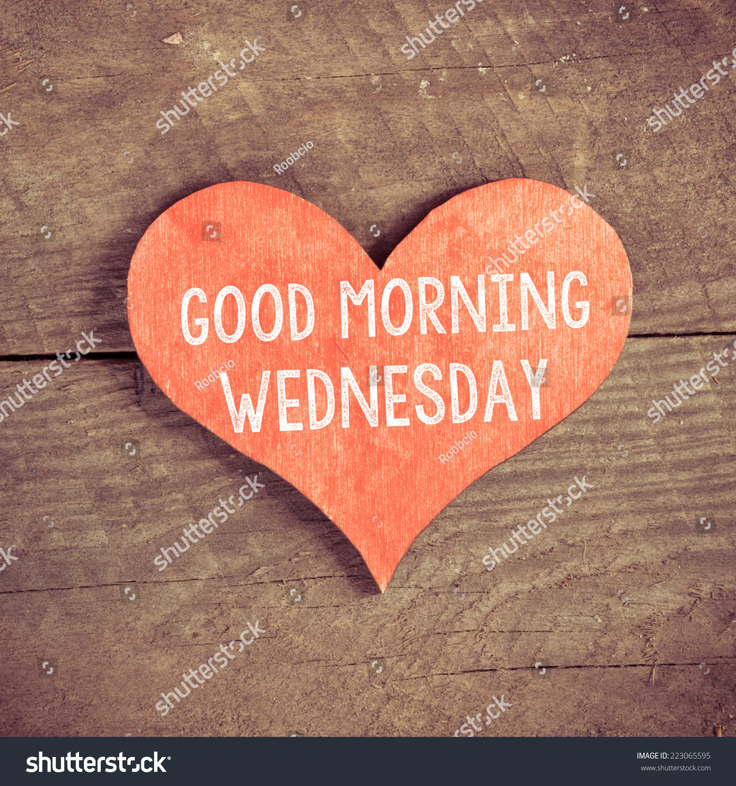 Heart Text Good Morning Wednesday Heart Stock Photo Edit Now