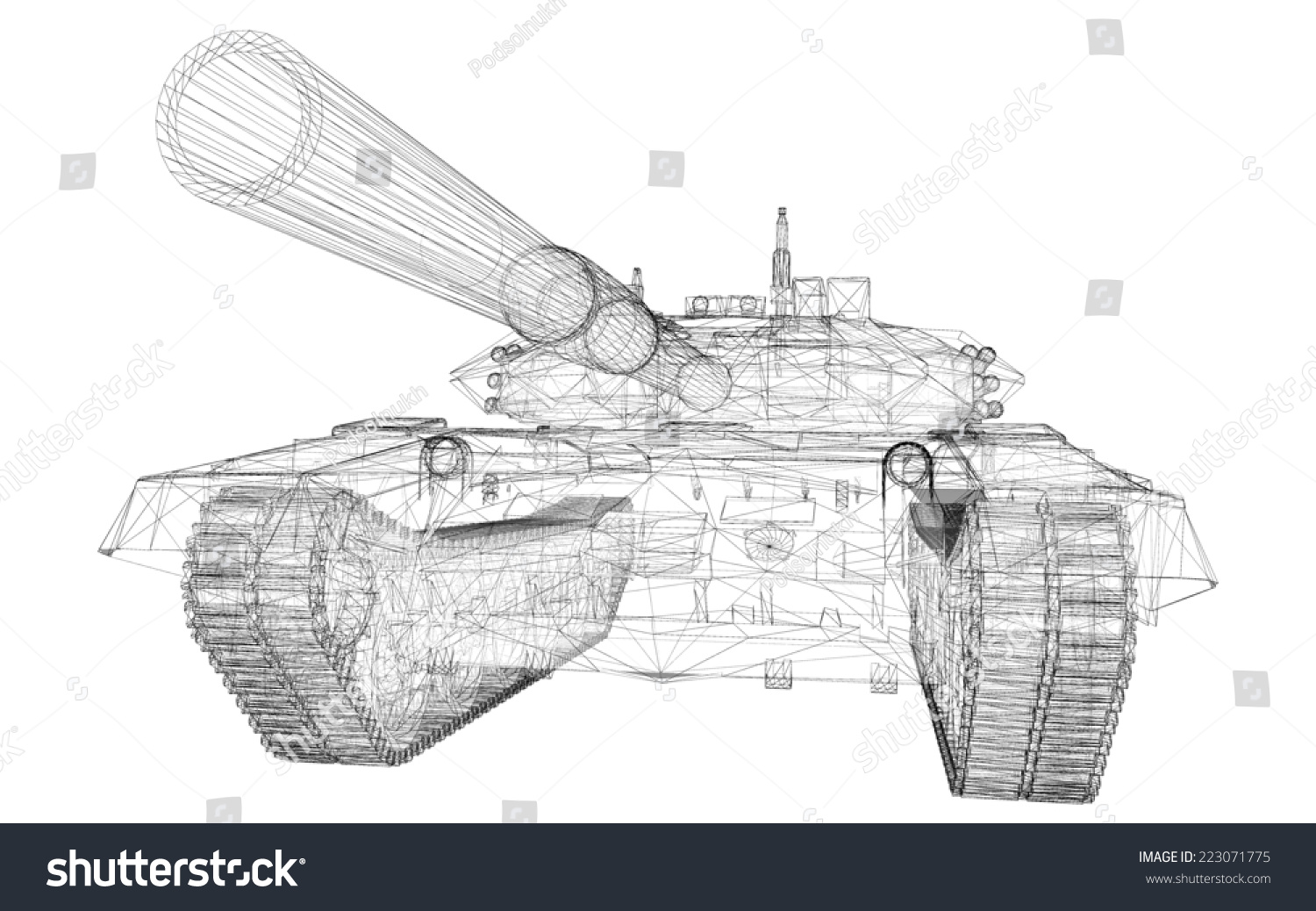 Military Wire Tank Center Trolling Motor 930011050 Diagramtr109lfbd 36 Volt Diagram And Model Body Structure Stock Illustration 223071775 Rh Shutterstock Com Mil Spec Electrical Saw