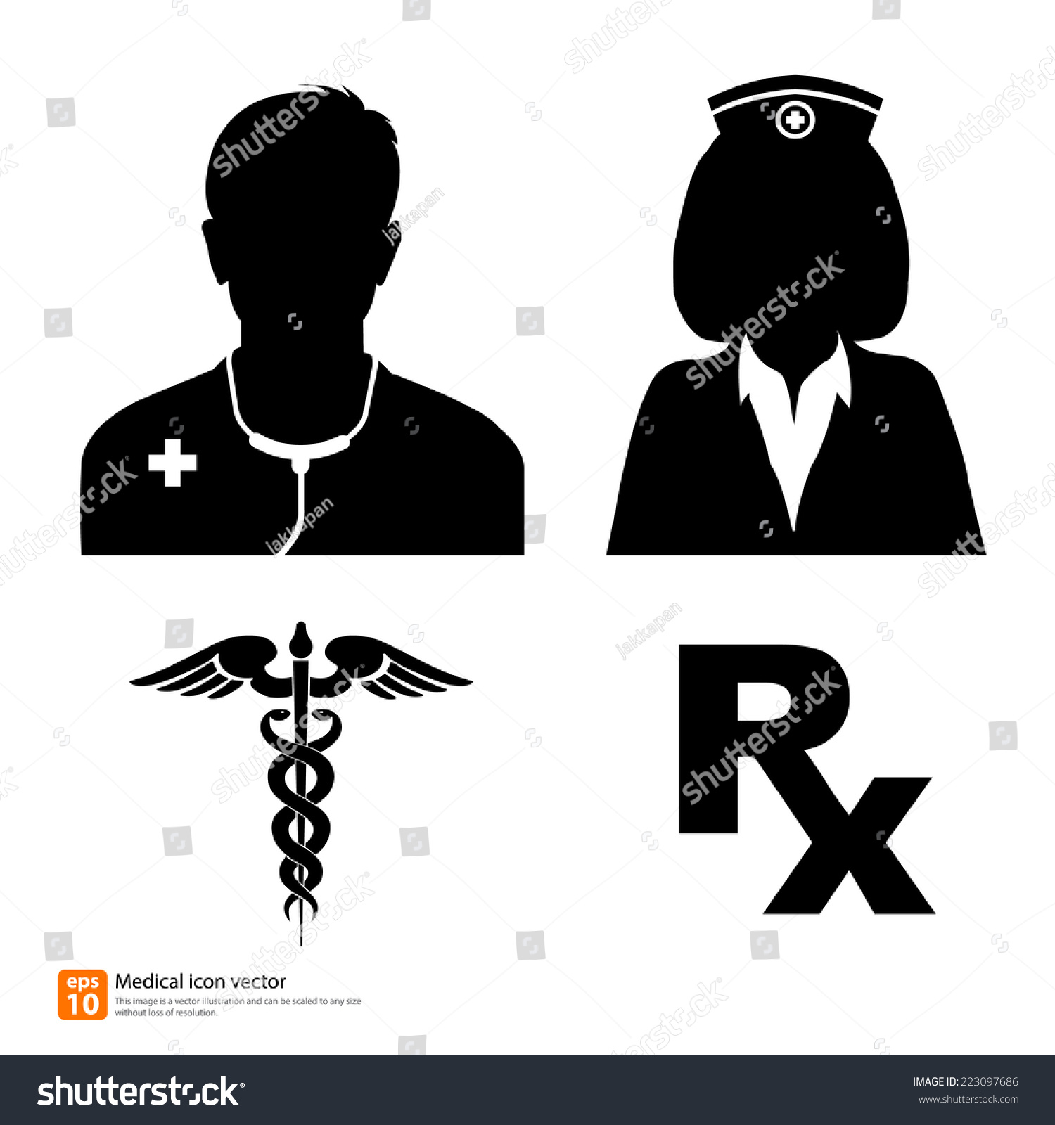 stock-vector-silhouette-vector-medical-icon-doctor-and-nurse-avatar ...