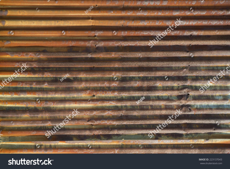 Old rusted corrugated metal siding horizontal stock photo for Horizontal steel siding