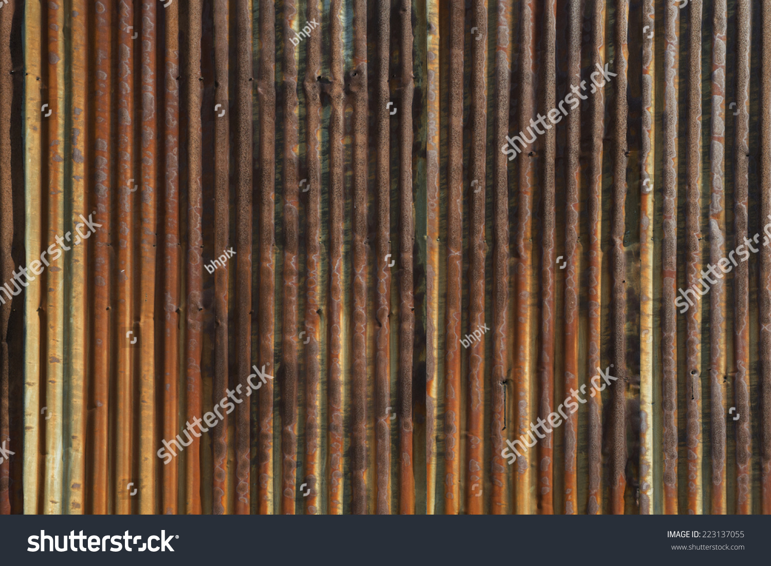 Old rusted corrugated metal siding horizontal stock photo for Horizontal metal siding