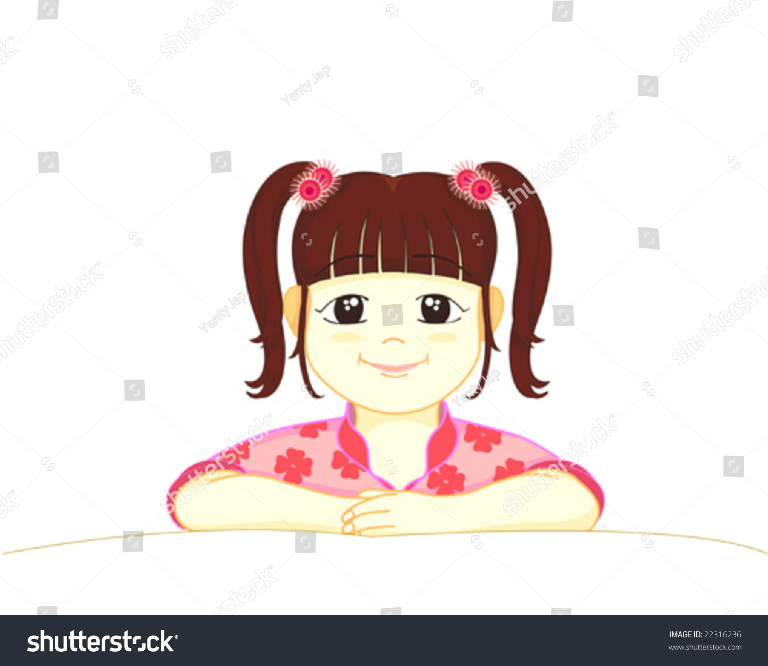 littlegirl tied up A Little Girl Smiling With Hair Tie Up Two Side Stock Vector Illustration 22316236 : Shutterstock