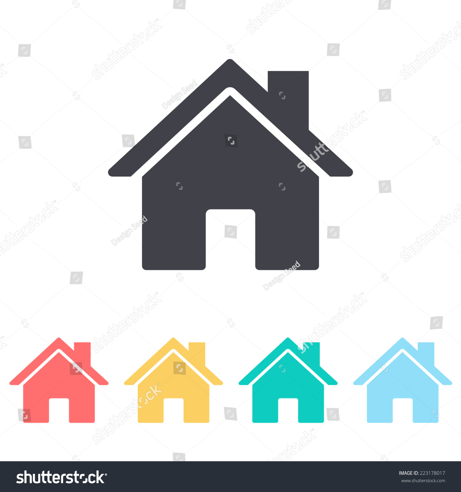 Home Icon Stock Vector 223178017 - Shutterstock
