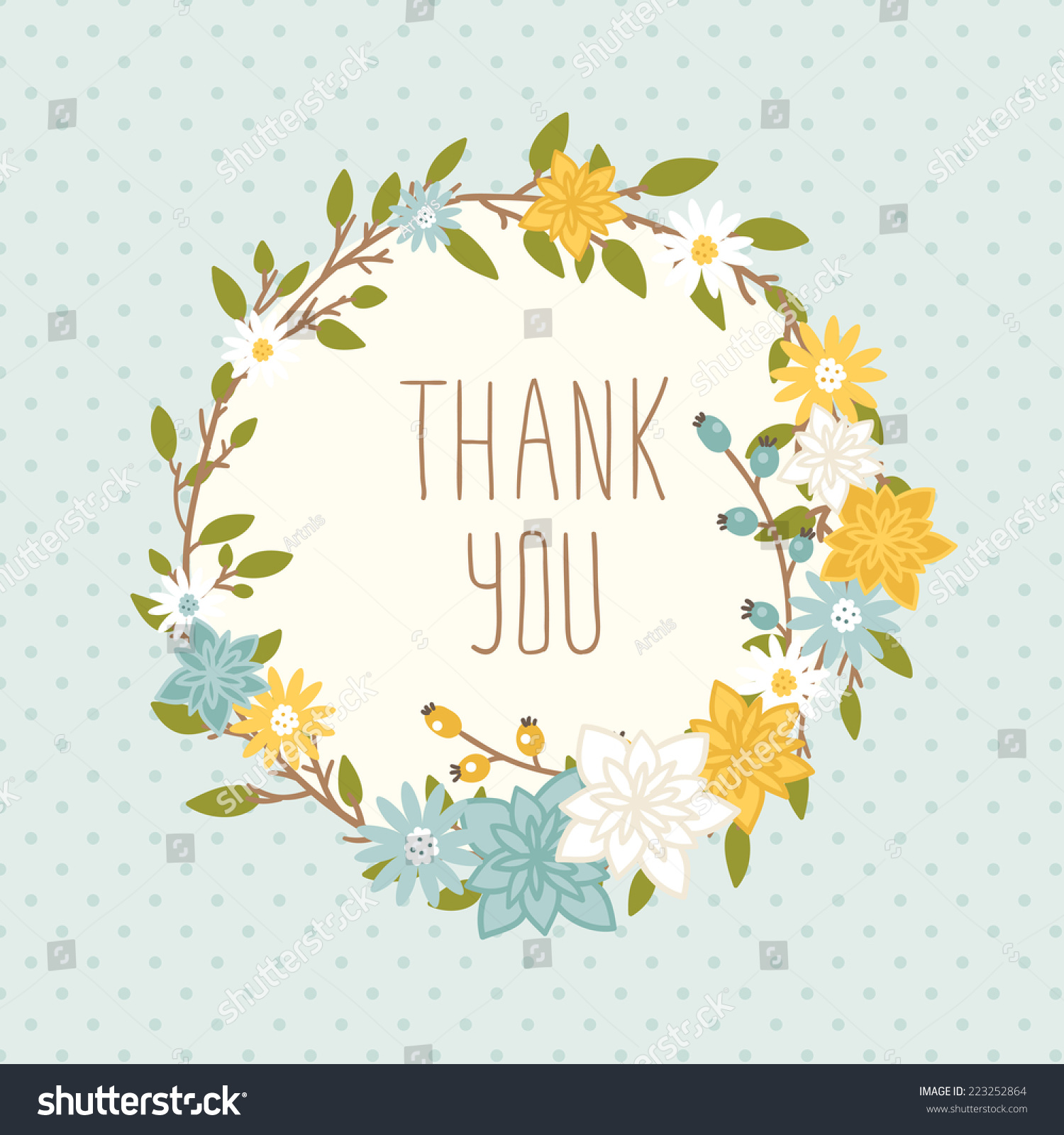 thank you card on chevron background stock vector
