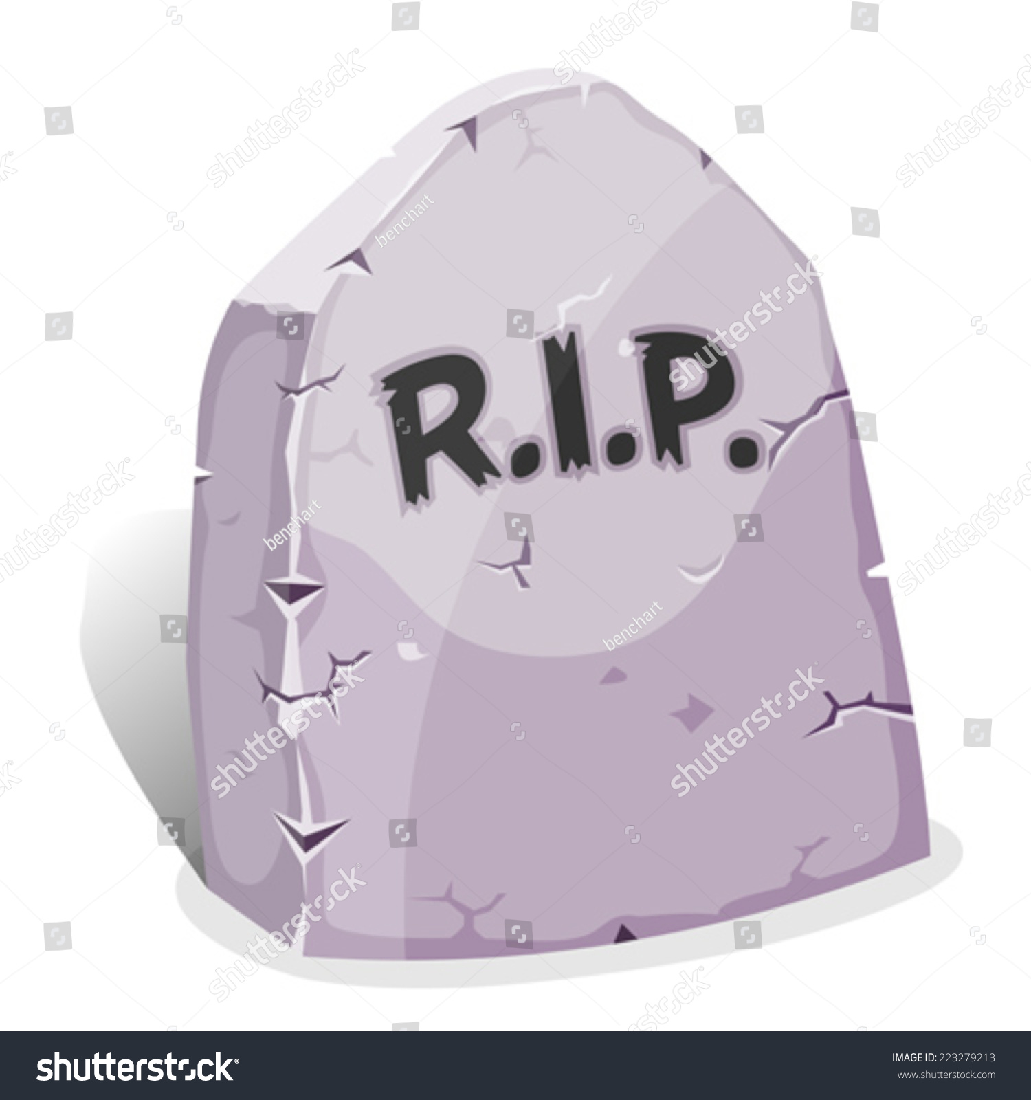 cartoon tombstone rip illustration funny cartoon stock vector