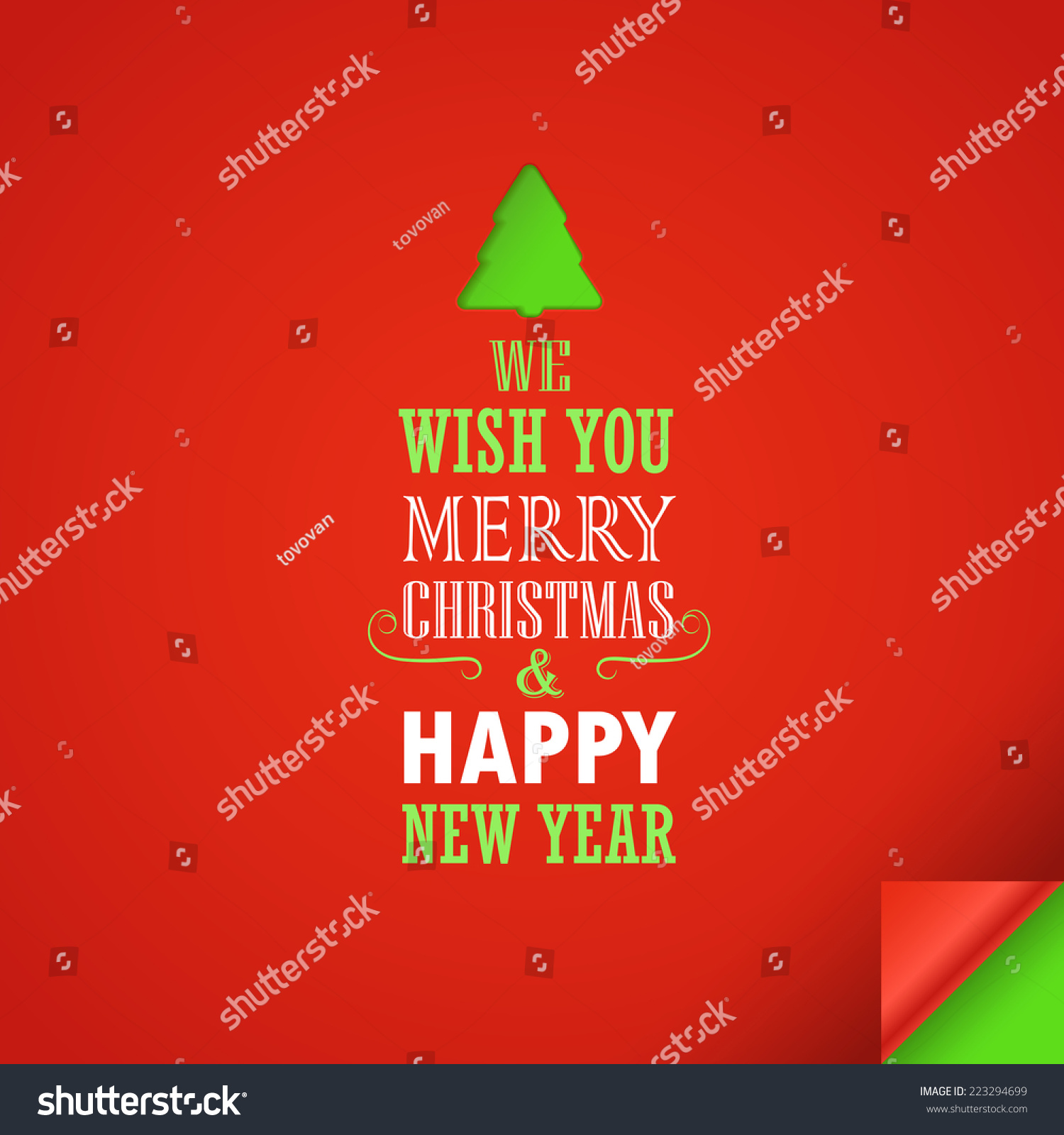 Merry Christmas And A Happy New Year Greeting Card. Design ...