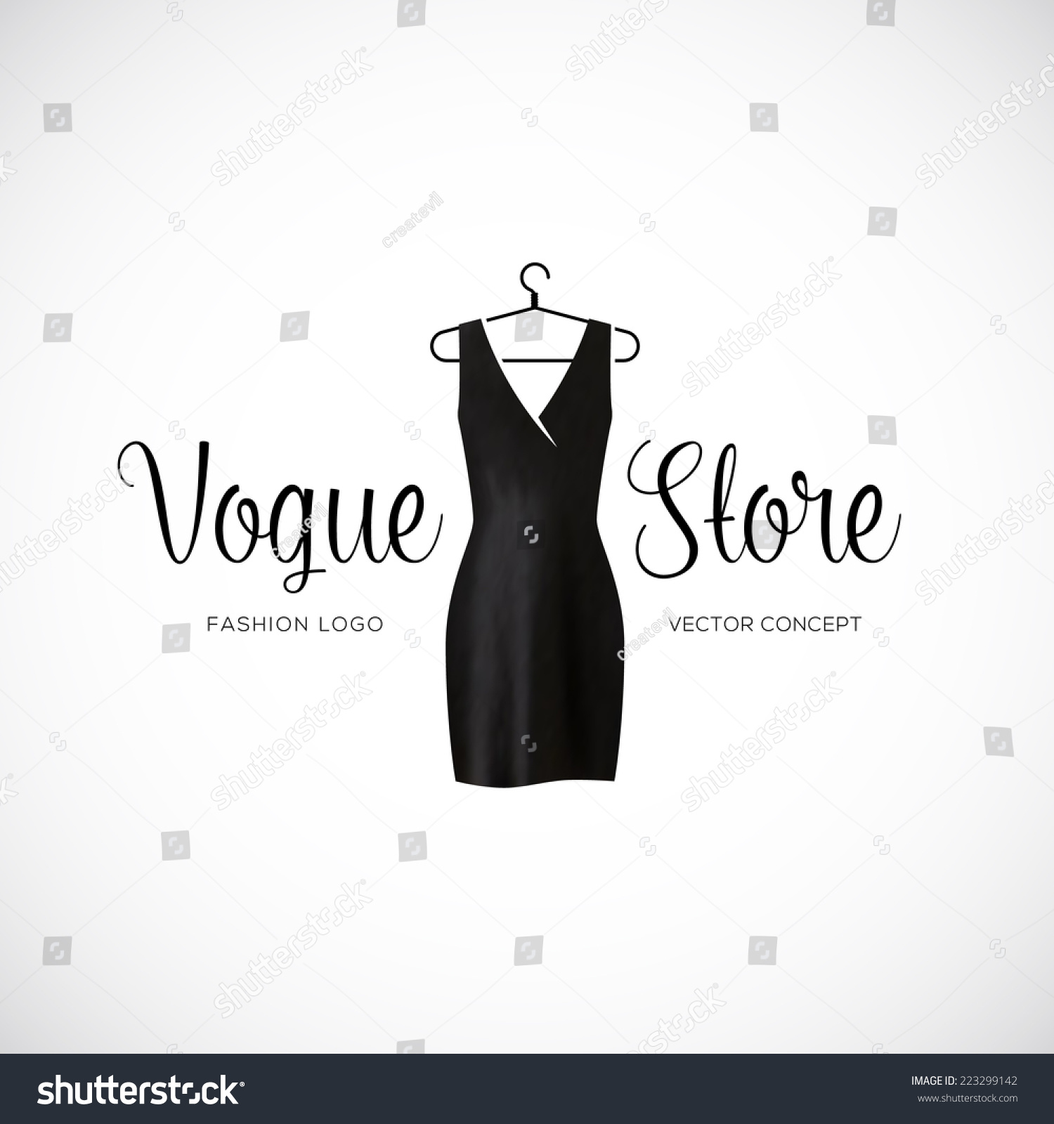 Fashion Vogue Store Logo Template Black Stock Vector ...