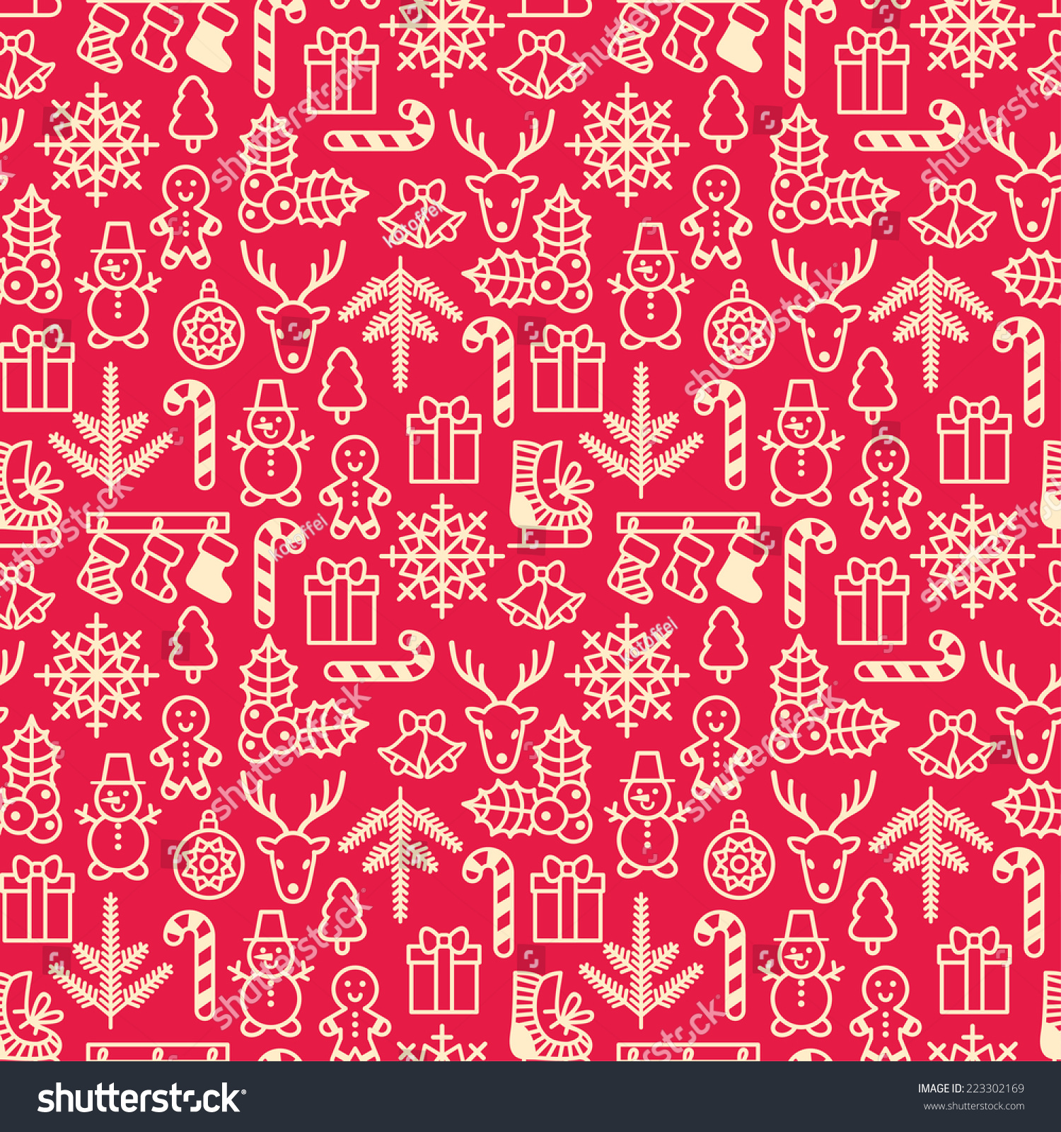stock-vector-christmas-seamless-pattern-wrapping-paper-pattern-in ...