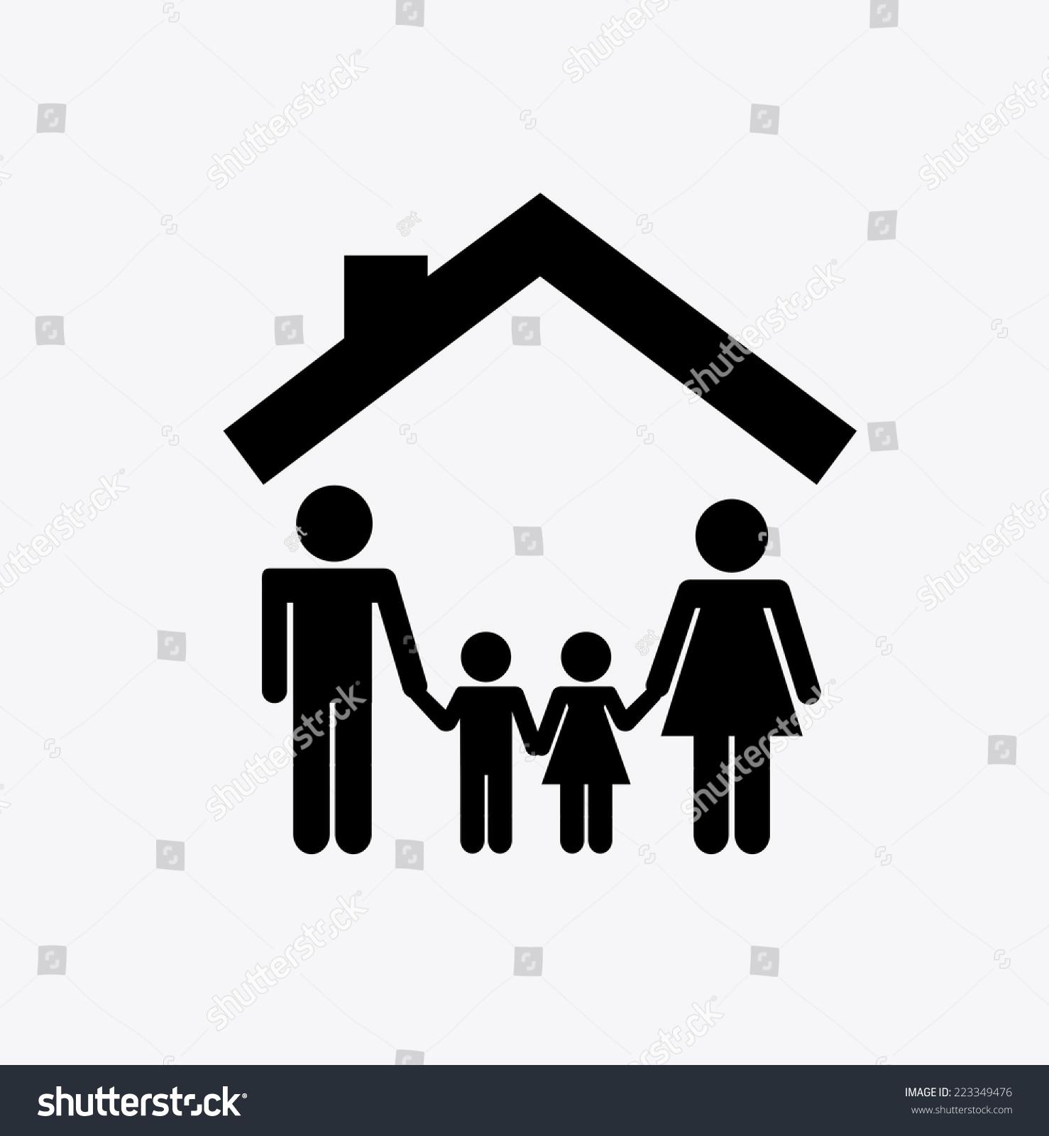 Family graphic design vector illustration stock vector for Family picture design