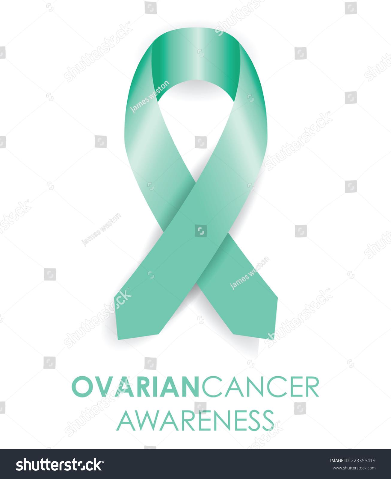 Ovarian Cancer Ribbon Stock Vector Illustration 223355419 ...