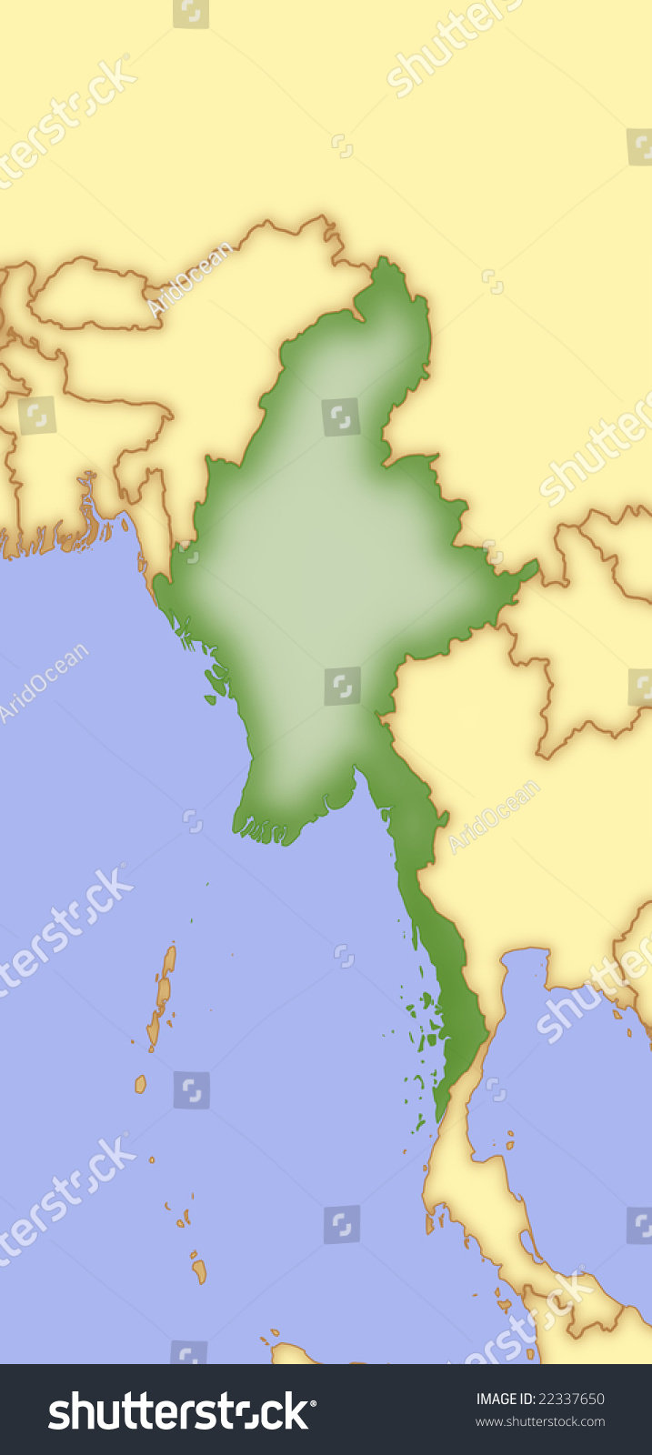 map of burma and surrounding countries Map Burma Borders Surrounding Countries Stock Illustration 22337650 map of burma and surrounding countries