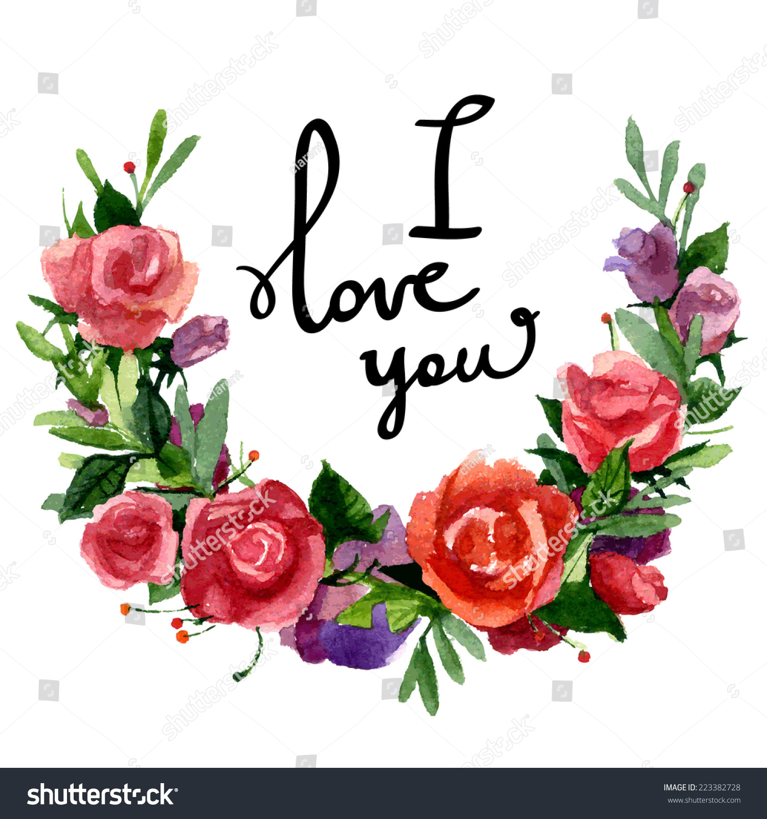 Vector Illustration I Love You Beautiful Stock Vector Royalty Free