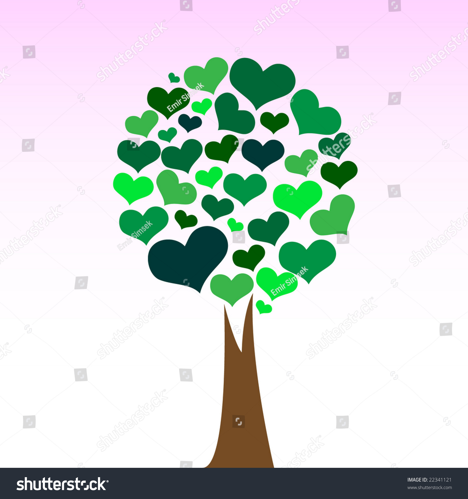 Love Tree Stock Vector Illustration 22341121 : Shutterstock