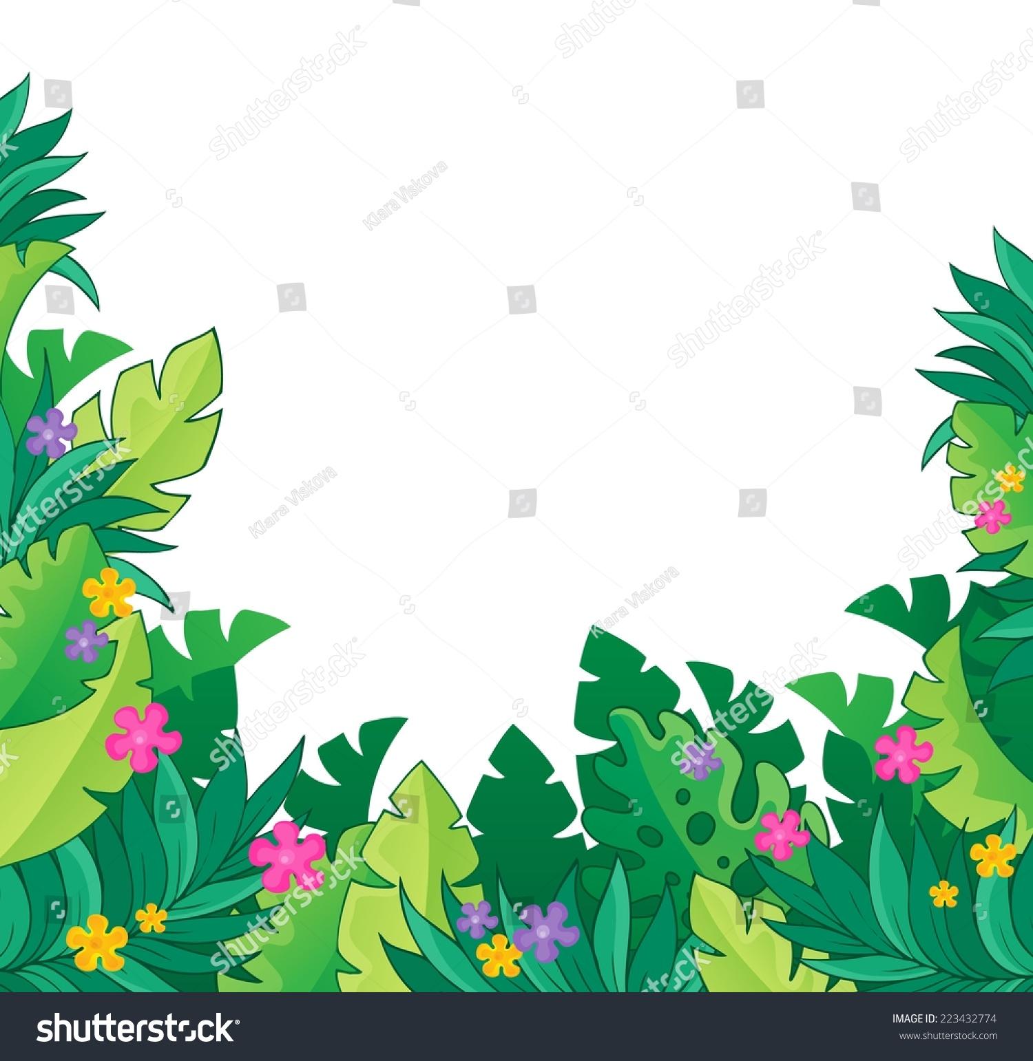image jungle theme 7 eps 10 vector stock vector 223432774 shutterstock rh shutterstock com jungle vector free download jungle vector free download