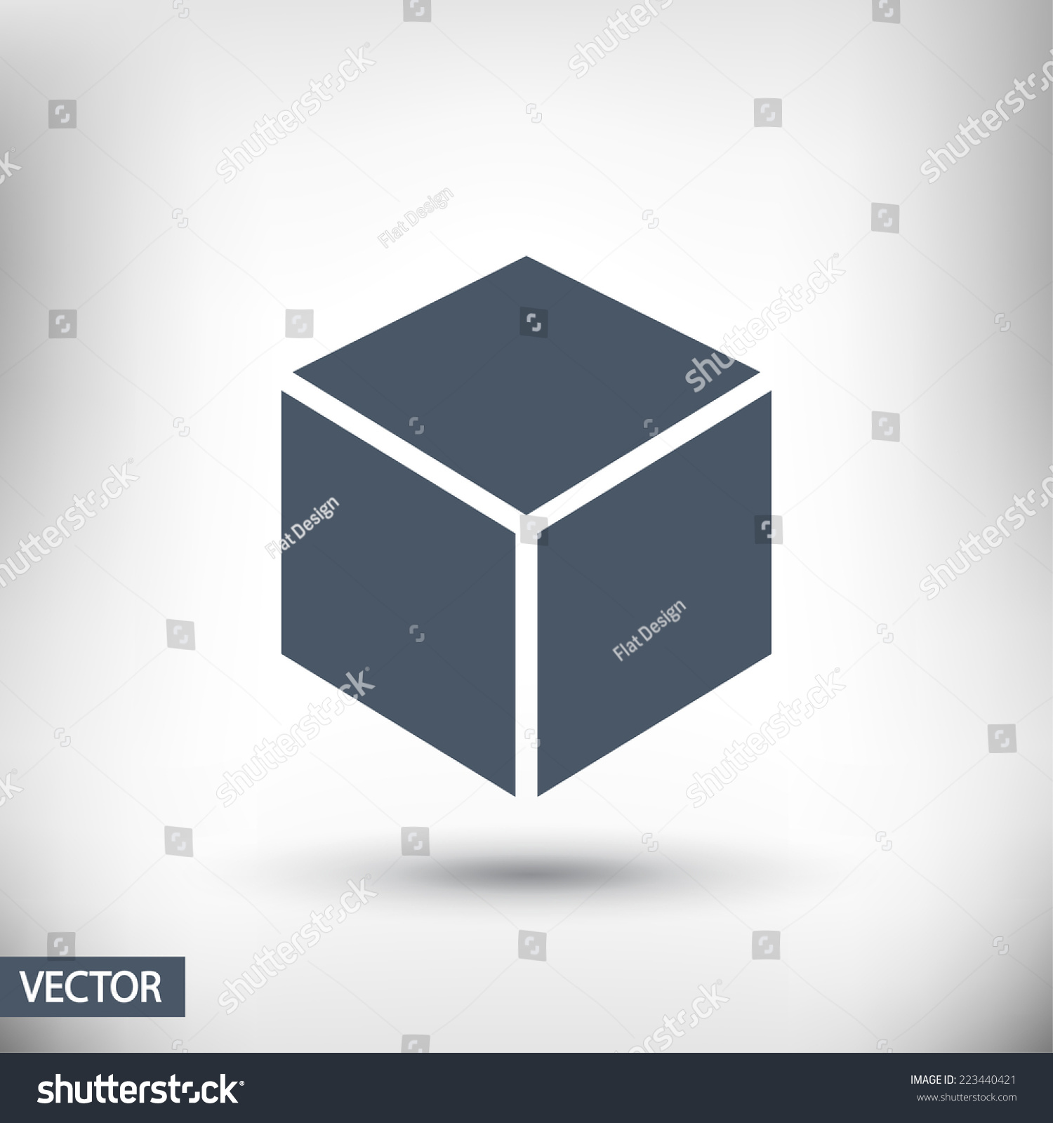 3d cube logo design icon vector illustration flat design for 3d flat design online