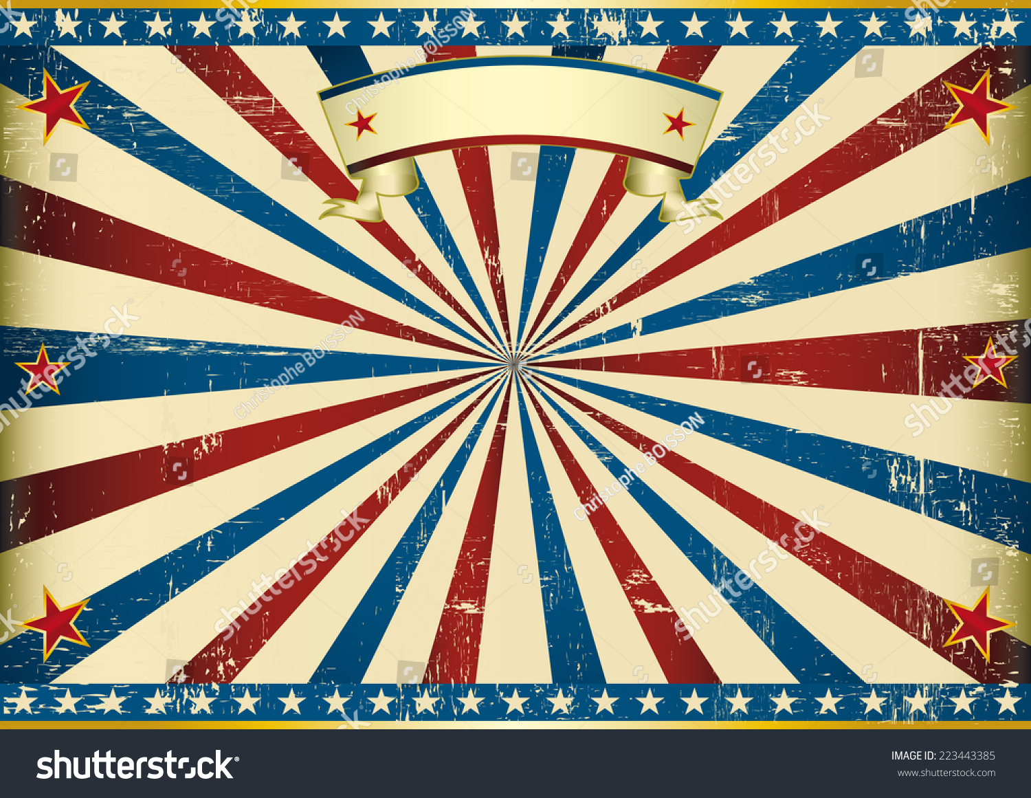 Horizontal Textured American Background American Vintage Vector de ...