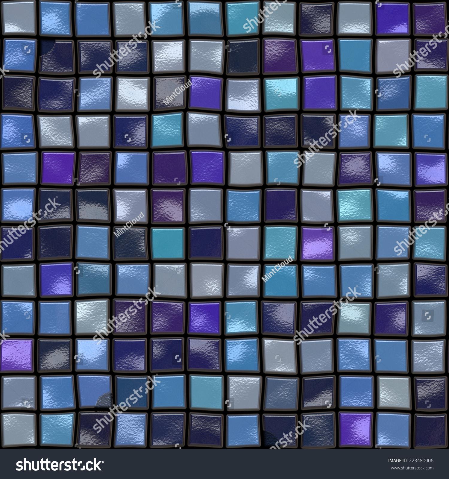 Seamless Colorful Ceramic Tiles Texture Mosaic Stock Illustration ...