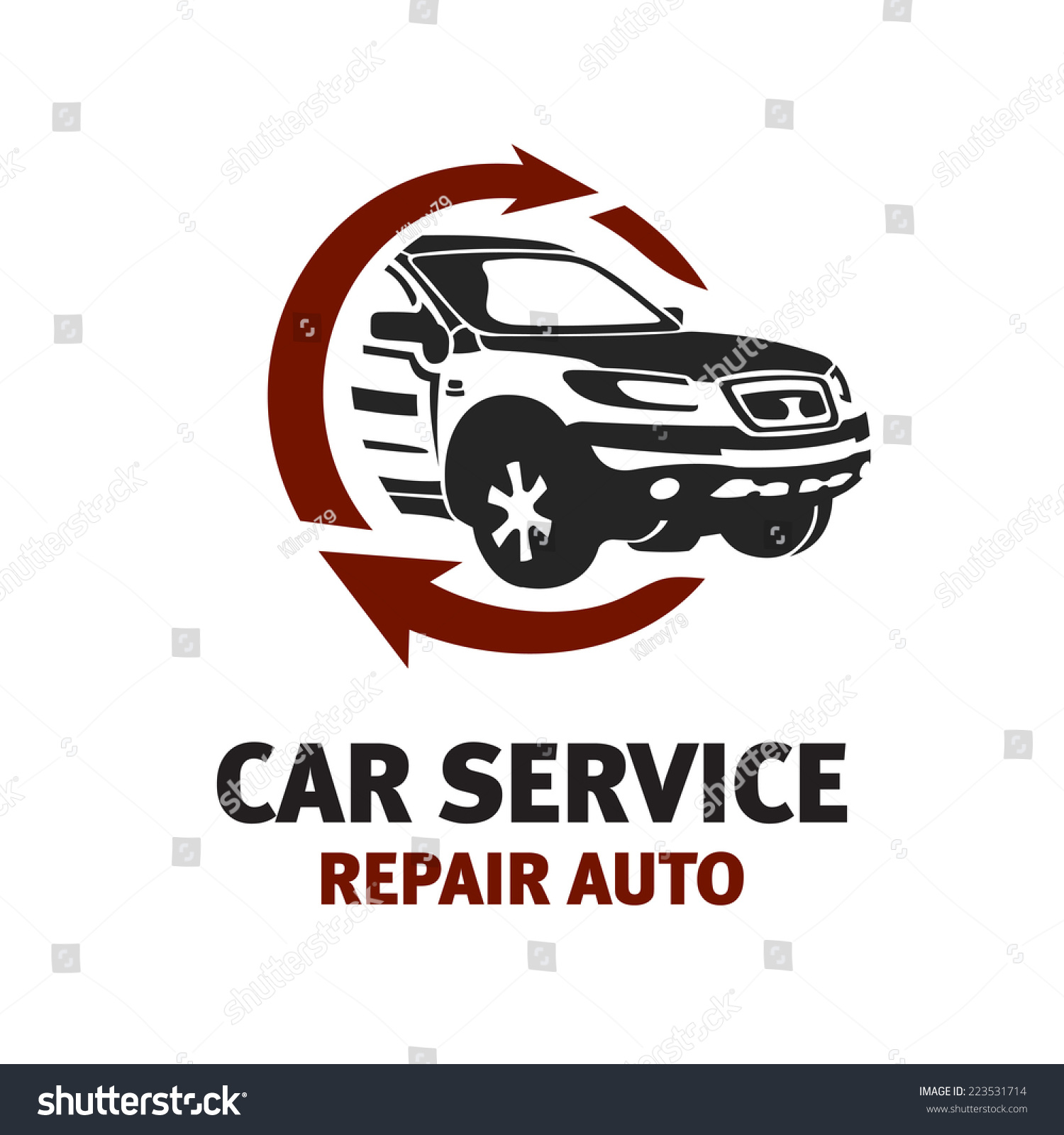 Car Service Logo Template. Automotive Repair Theme Concept ...