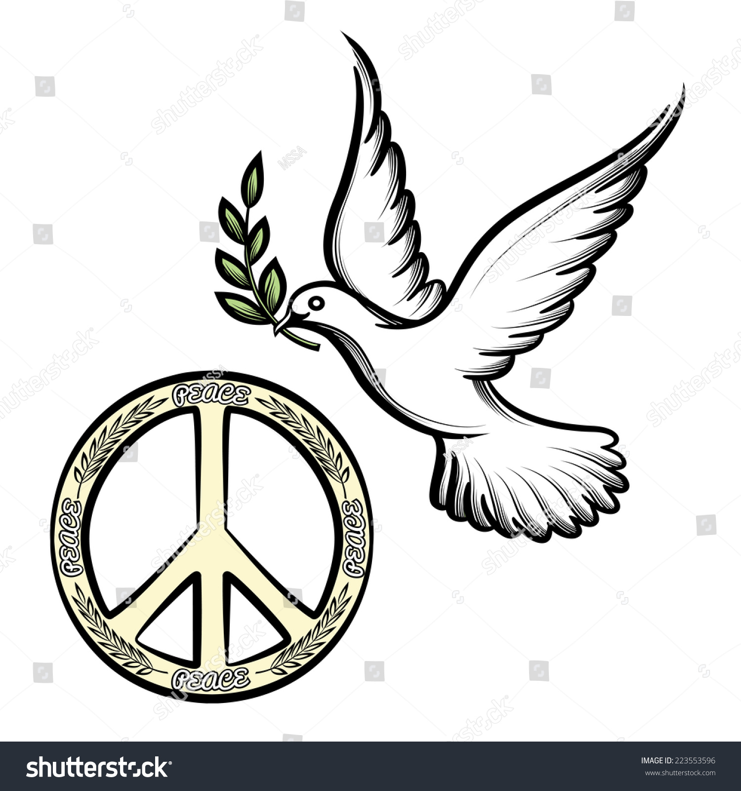 Pacific antiwar symbol nuclear disarmament now stock illustration pacific anti war symbol for nuclear disarmament now an international peace symbol and the dove biocorpaavc Images