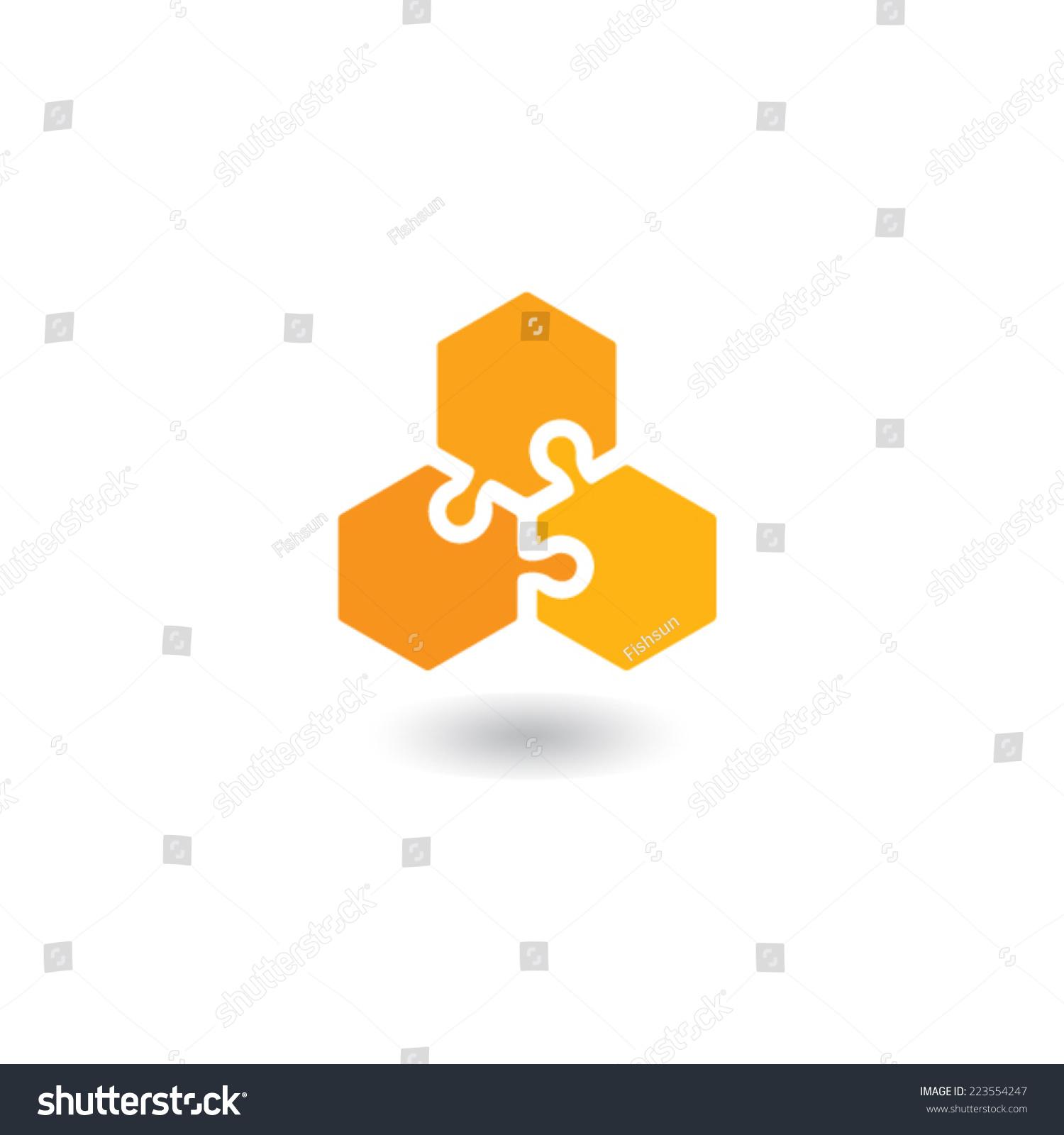 Honeycomb Logo Stock Vector 223554247 Shutterstock