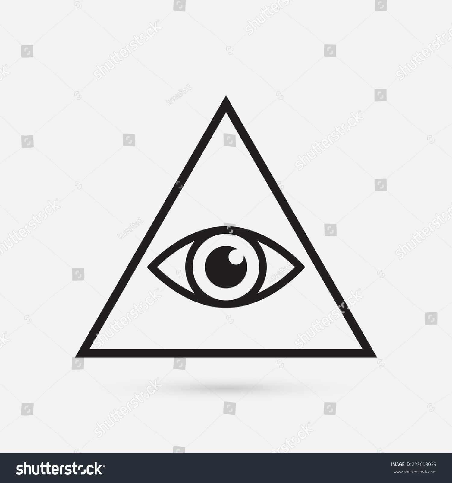 All Seeing Eye Symbol Simple Triangle Vectores En Stock ...