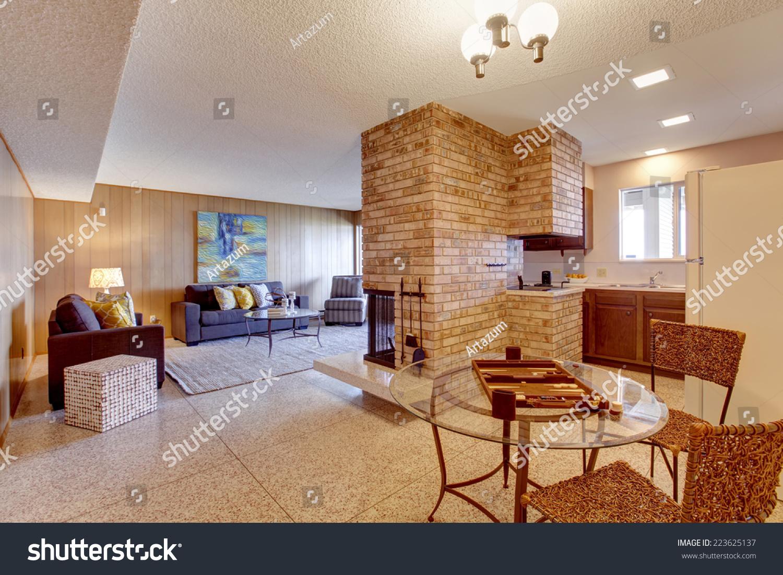 Basement open floor plan living room with dining and Flooring for living room and living areas