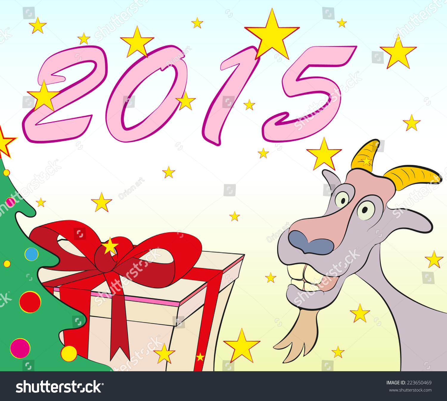 Christmas Greeting Cards Symbol New Year Stock Vector 223650469 ...
