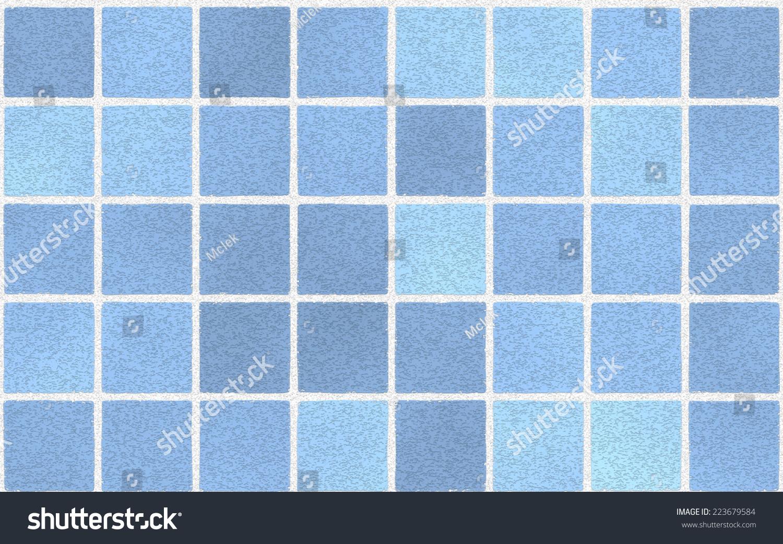 Seamless Mosaic Tiles Background Texture Light Stock