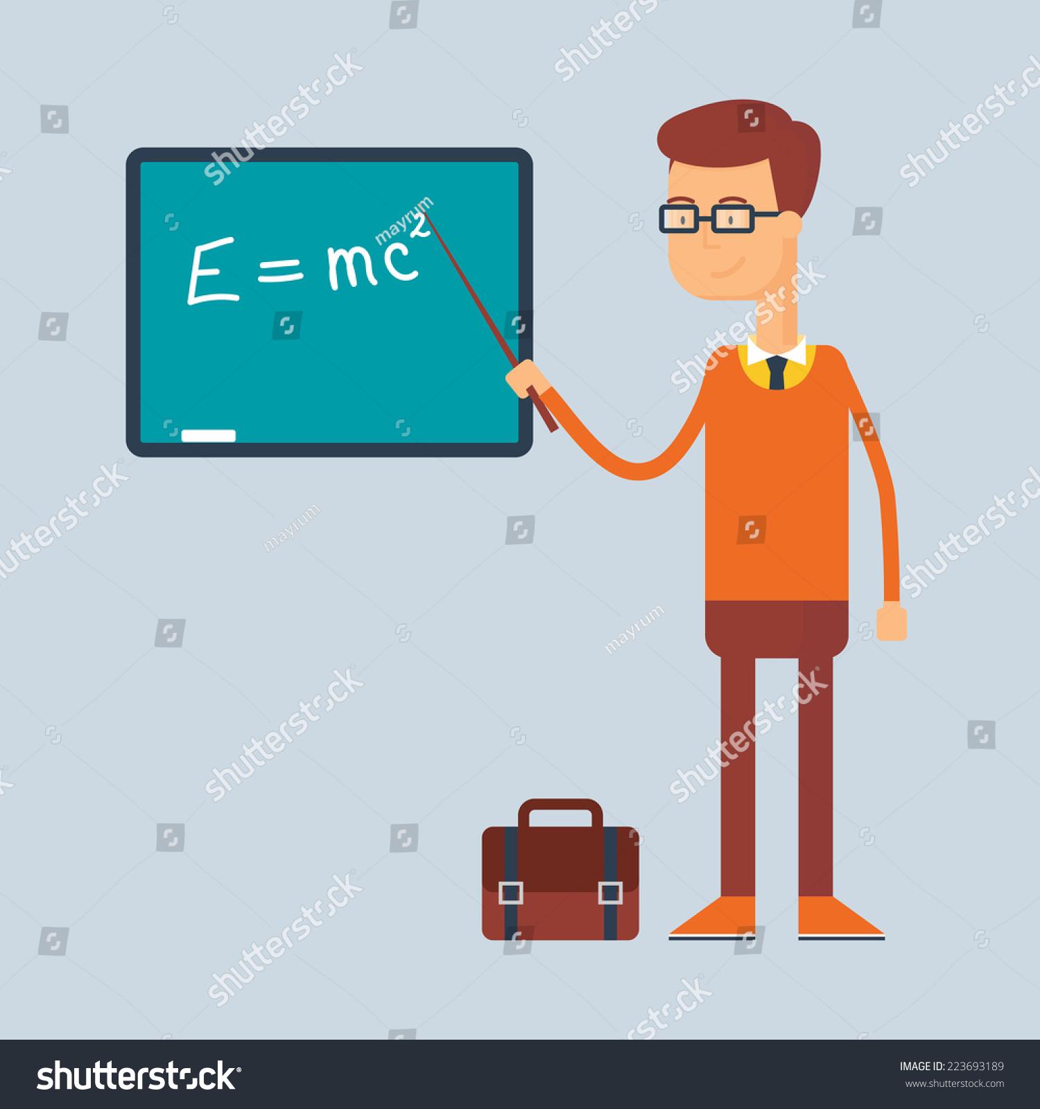 Character Teacher Education Concept Vector Illustration Stock ...