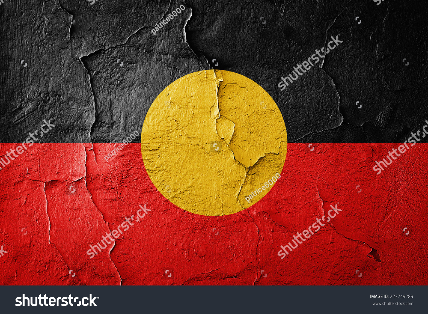 Aboriginal Australia Flag Wall Background Stockillustration ...