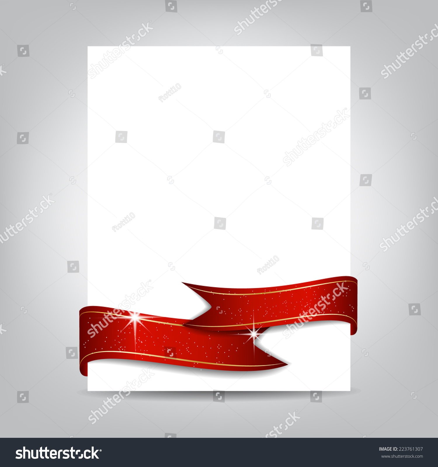 christmas flyer template paper banner red stock vector  christmas flyer template paper banner red ribbon cover design can be used