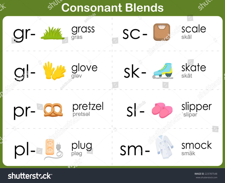 worksheet R Blends Worksheets consonant blends worksheet kids stock vector 223787548 shutterstock for kids