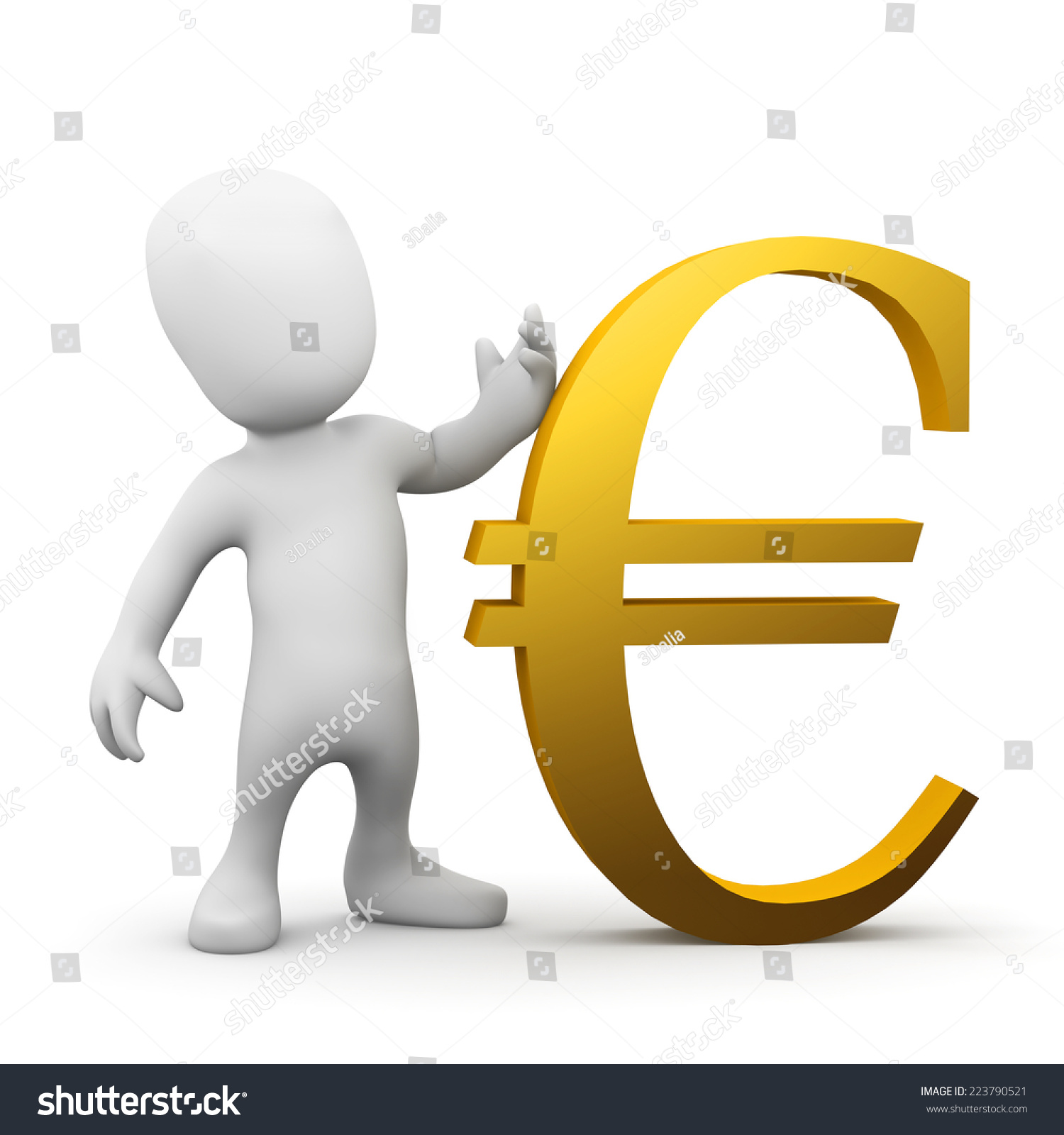 3d render little person gold euro stock illustration 223790521 3d render of a little person with a gold euro currency symbol biocorpaavc Images