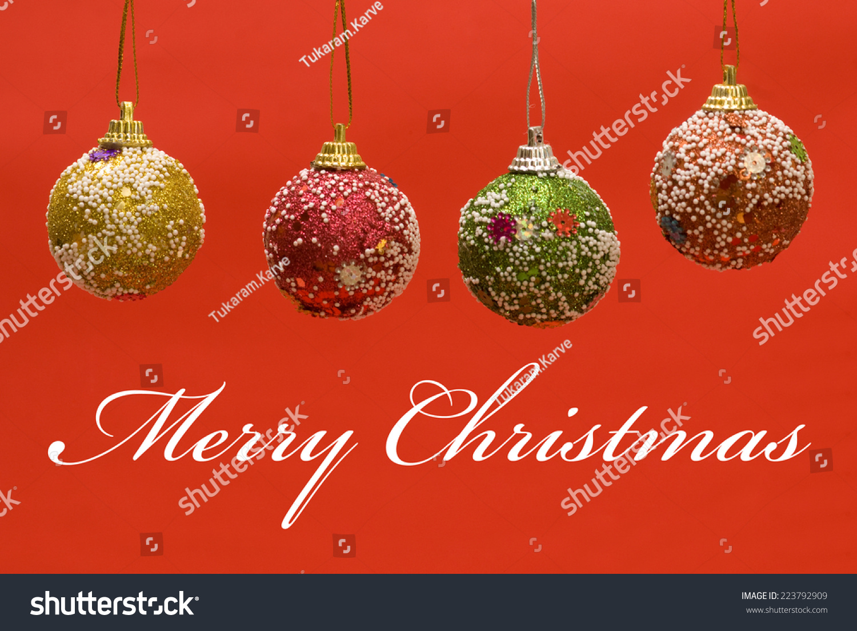 Christmas Greetings Stock Photo Royalty Free 223792909 Shutterstock