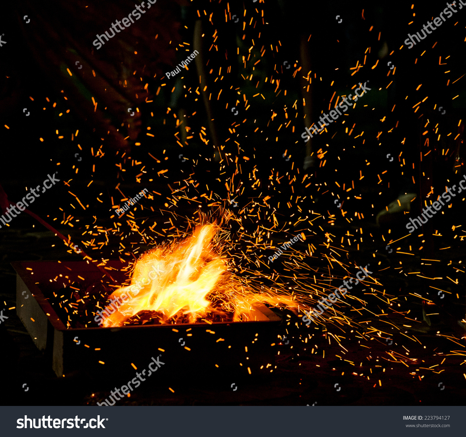 Stock Photo Small Bbq