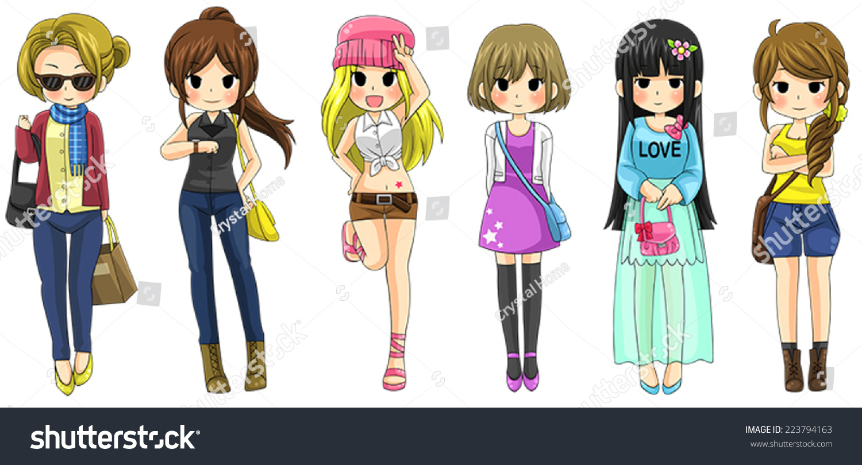Cartoon Fashion Clothes The Image Kid