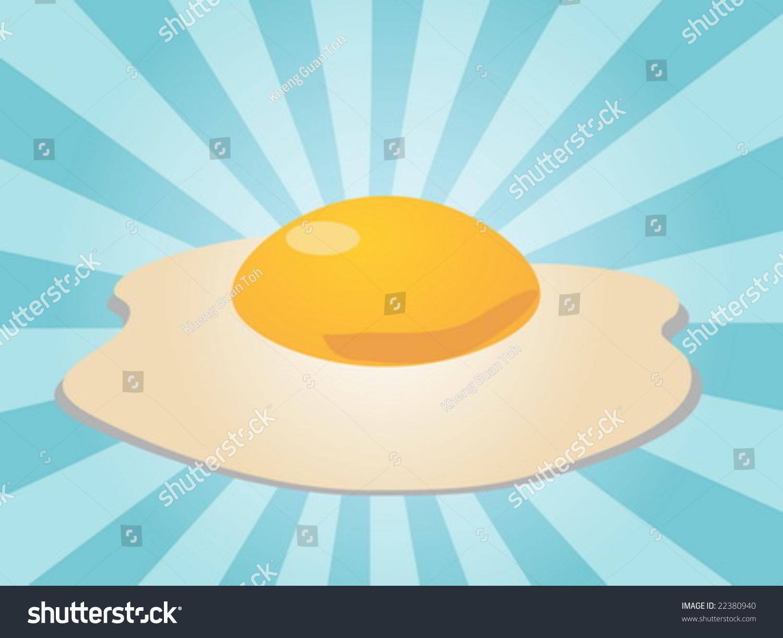 Egg Illustration Clipart Fried Whole Egg Stock Vector 22380940 ... for Clipart Yolk  54lyp