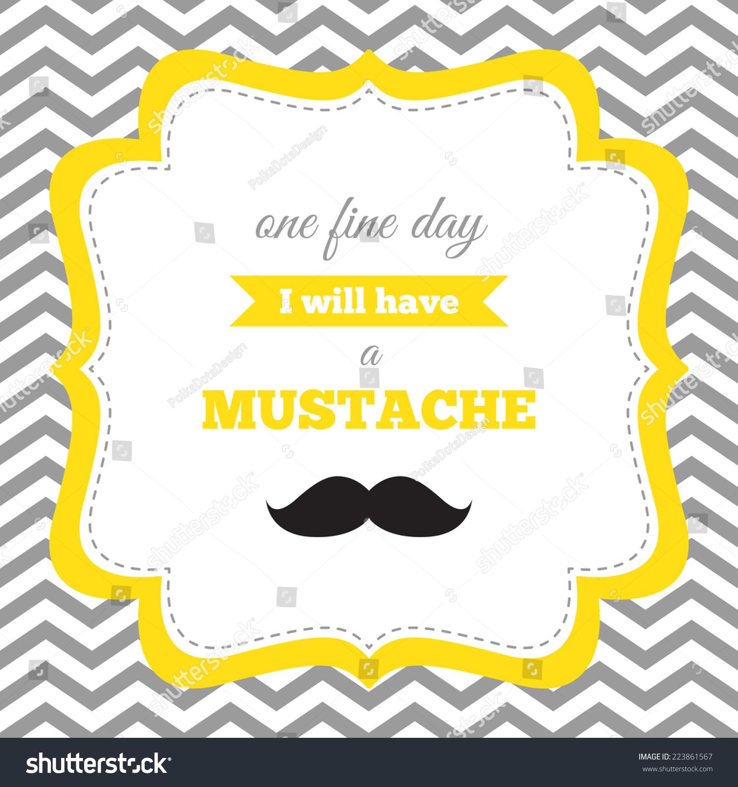 Baby Shower Birthday Invitation Mustache Party Stock Vector ...