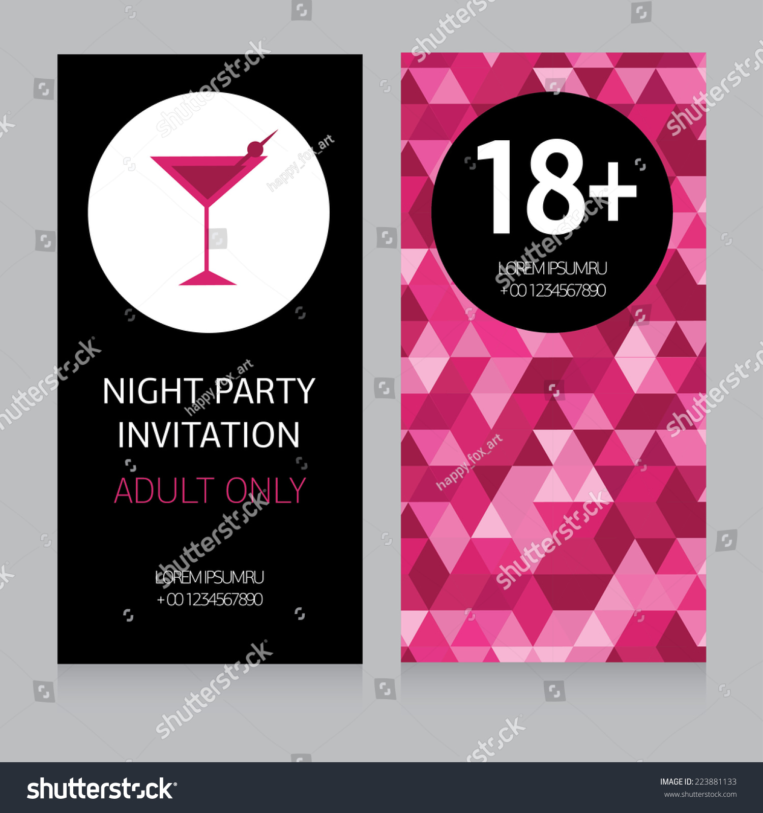 Invitation Party Wedding Free Vector Graphic On Pixabay: Design Template For Night Party Invitation, Vector
