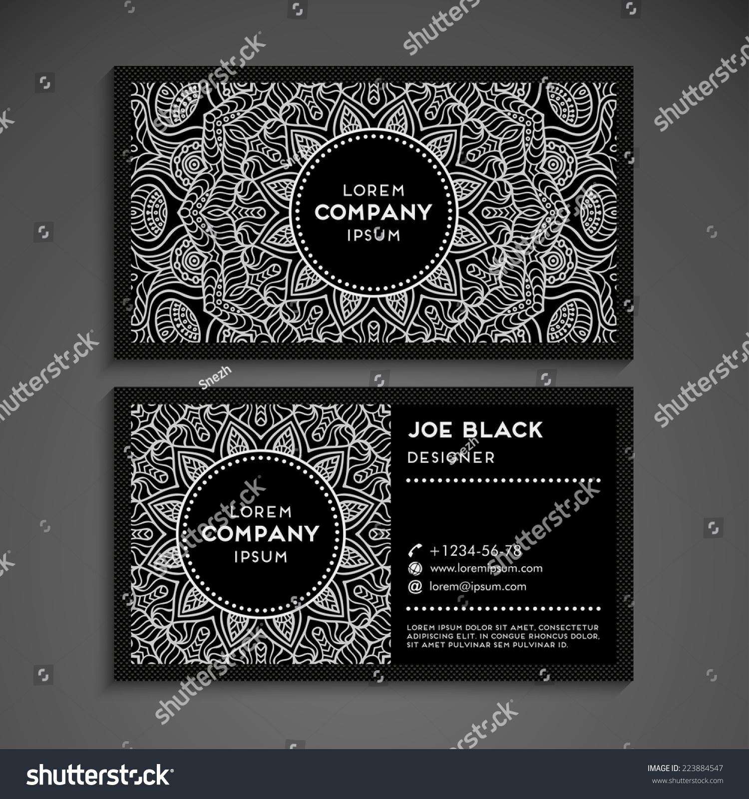 Vintage Business Card Stock Vector (2018) 223884547 - Shutterstock