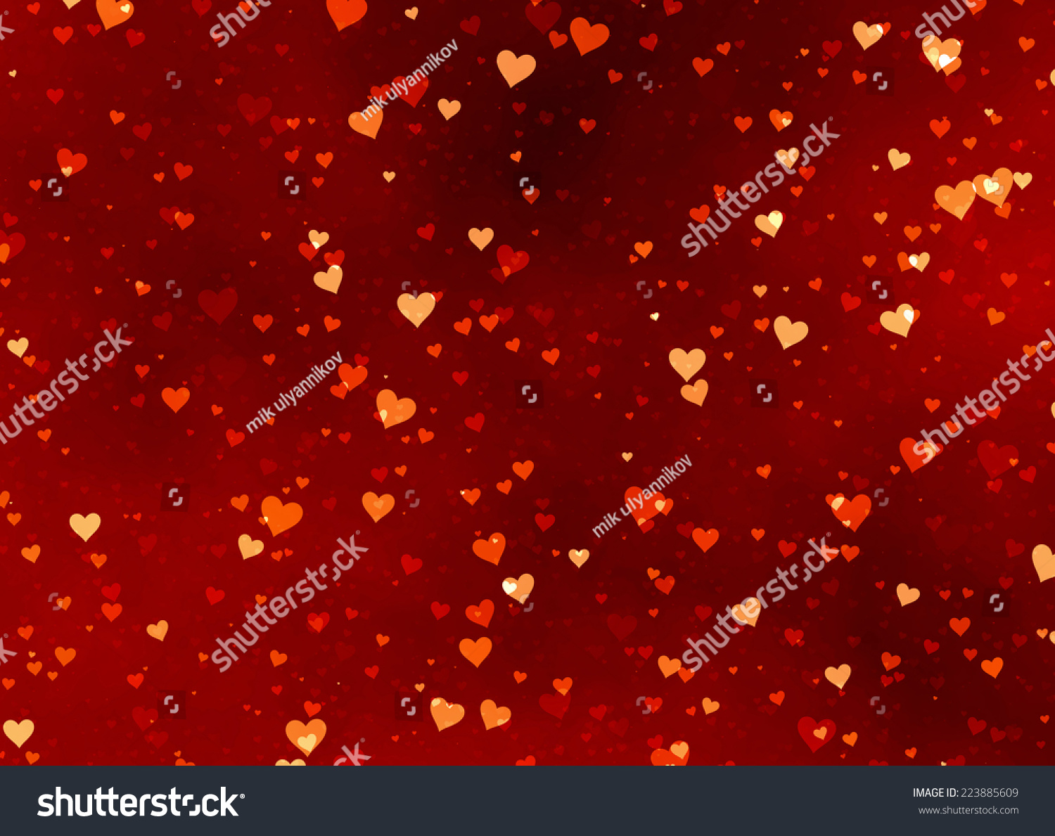 Red Hearts Backgrounds Valentines Day Love Stock