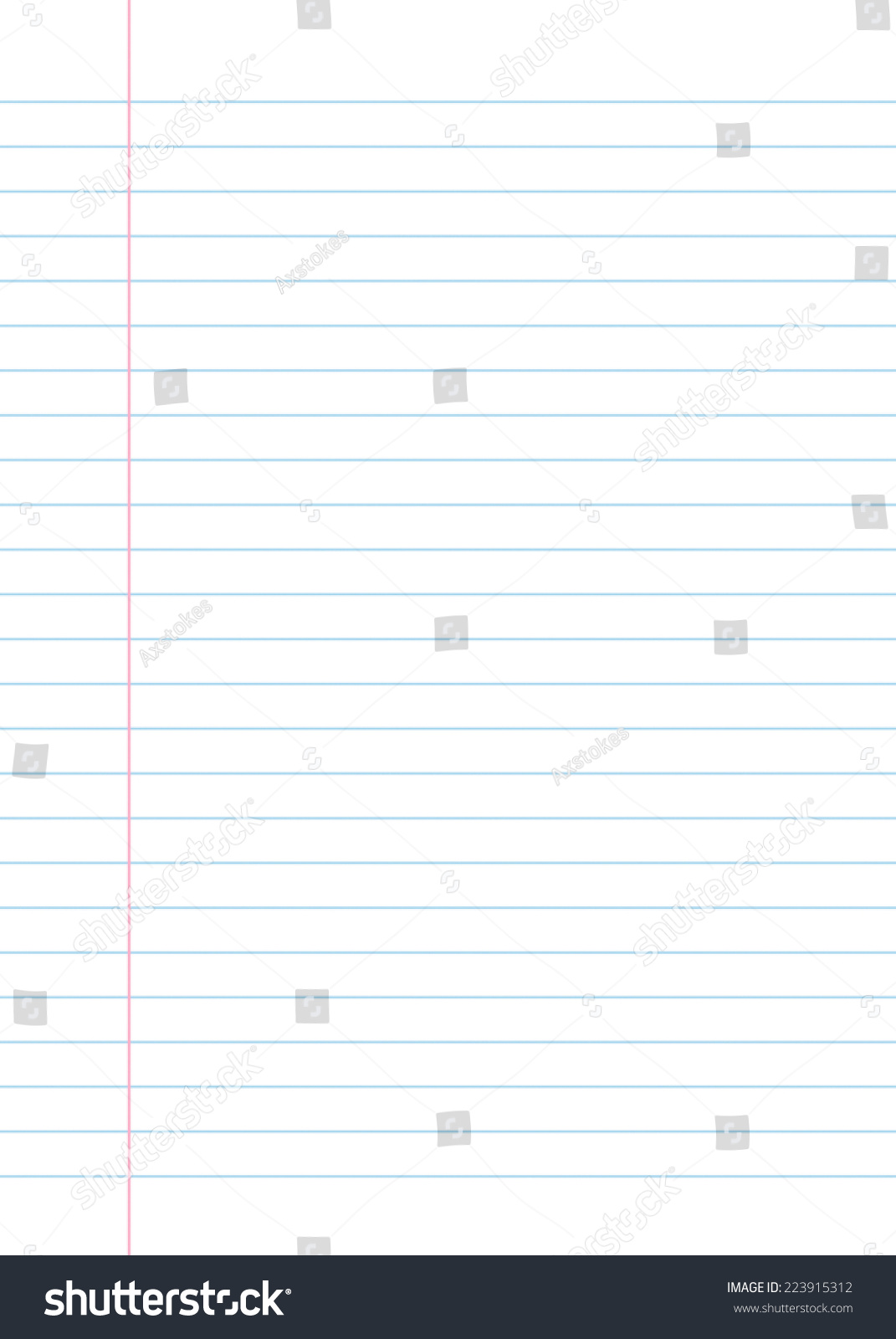 Blank Lined Paper Texture From A Notebook Or Notepad. Great For A Writing  Background Or  Blank Line Paper