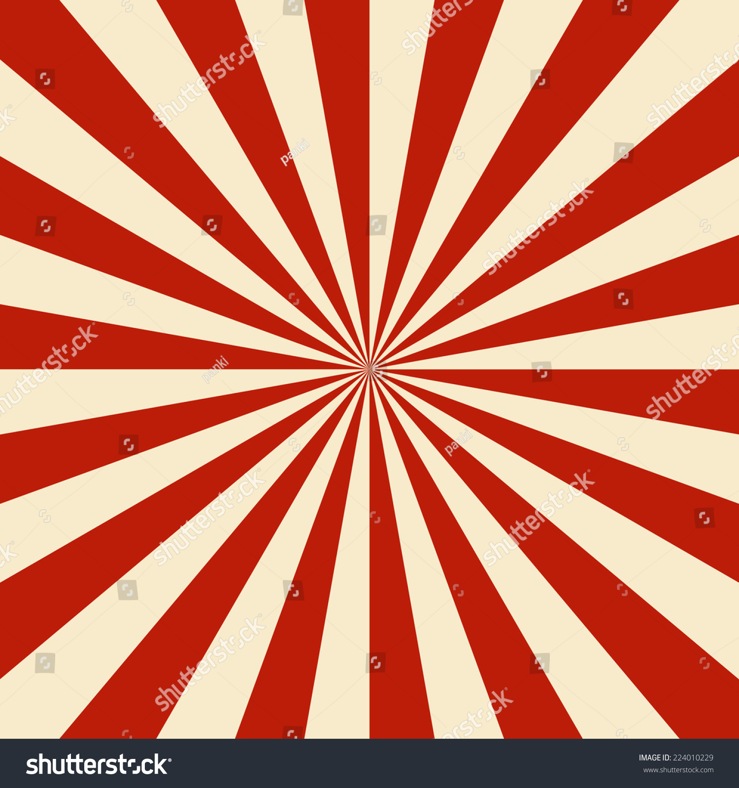 Sun Burst Background Red Vintage Stock Vector 224010229 ... Vintage Burst Background
