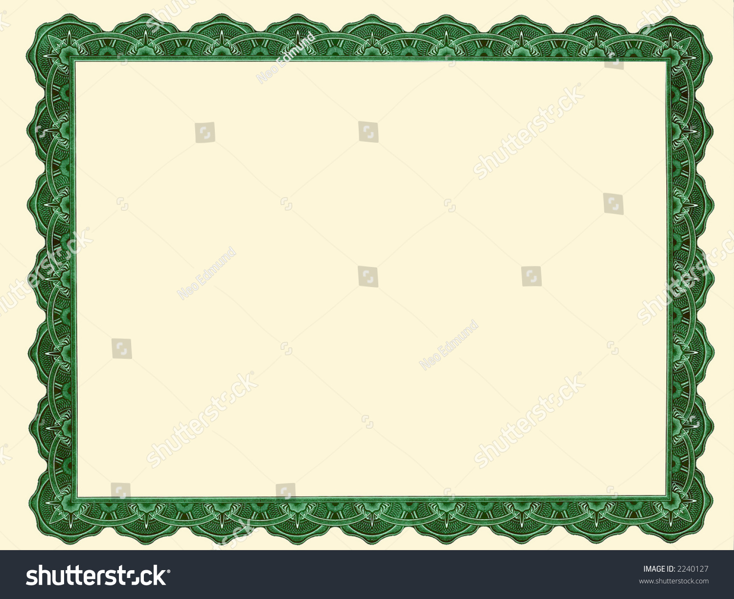 Certificate Frame Stock Illustration 2240127 - Shutterstock