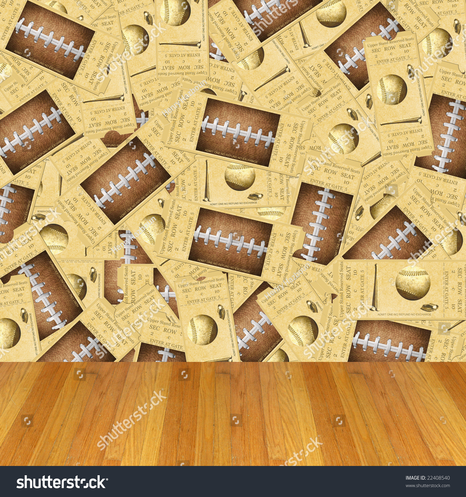 Simple Wallpaper Football Baseball - stock-photo-dimensional-room-with-football-baseball-ticket-wallpaper-and-a-wood-floor-22408540  Pic_78268 .jpg