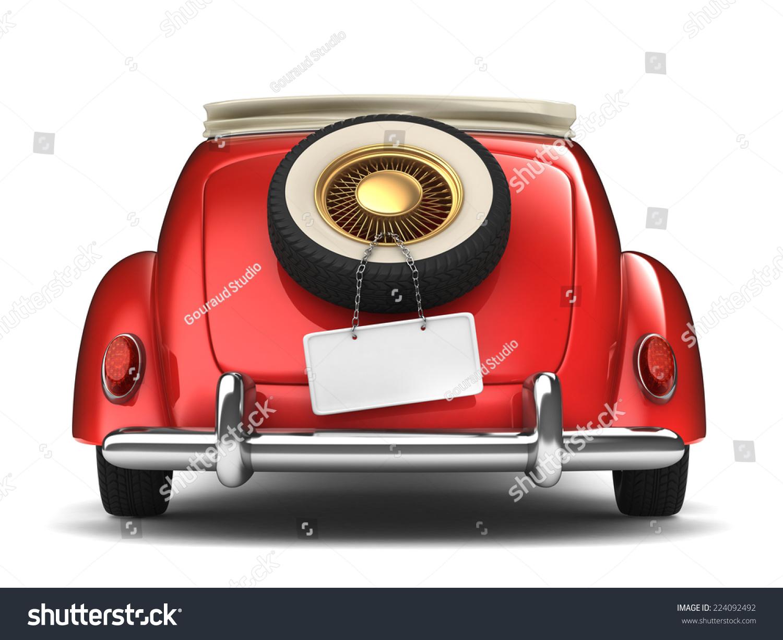 Vintage Red Bridal Car Stock Illustration 224092492 - Shutterstock