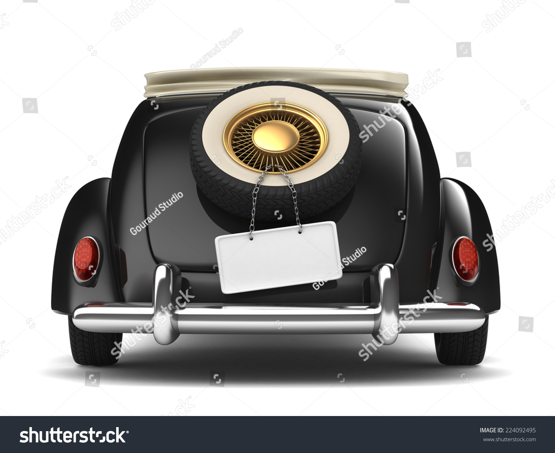 Vintage Black Bridal Car Stock Illustration 224092495 - Shutterstock