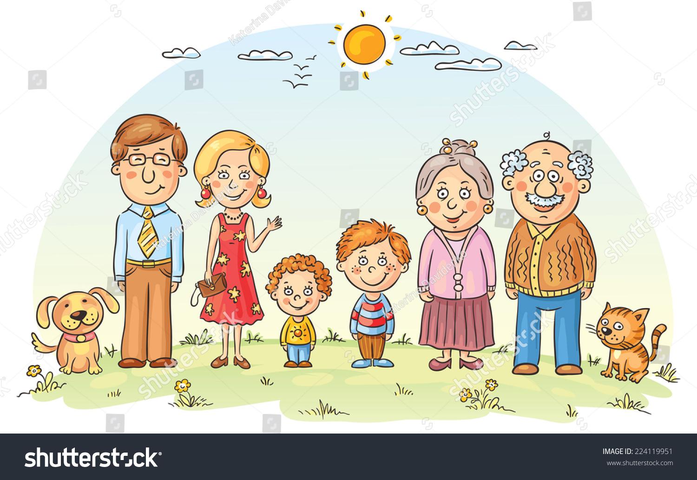 Меня разбудил рисунки членов семьи Петр