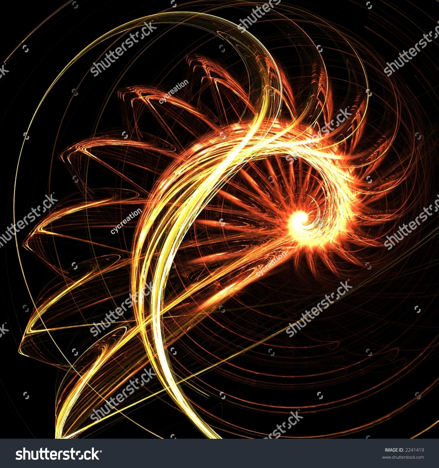 Fractal Black Flower Free Stock Photo: Fractal Spiral Sun Flower Stock Photo 2241419 : Shutterstock