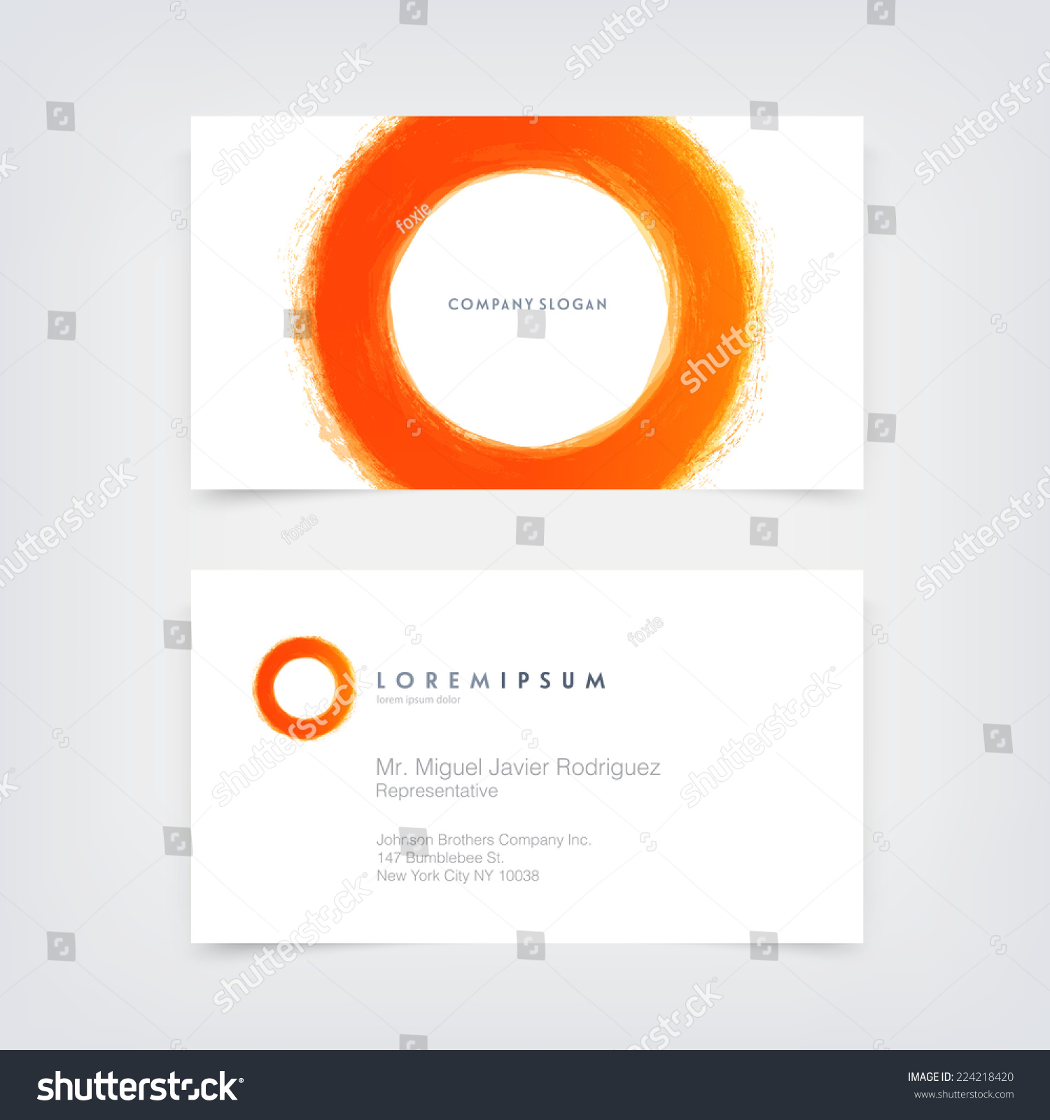 Vector Abstract Business Card Design Template Stock Vector